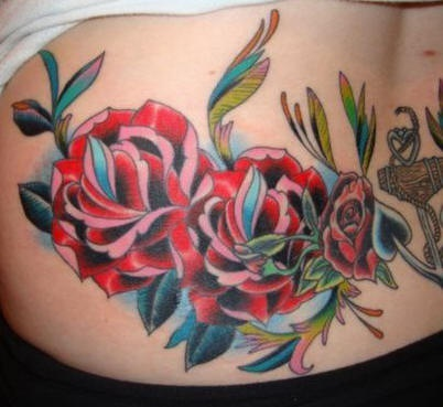 Red roses tattoo