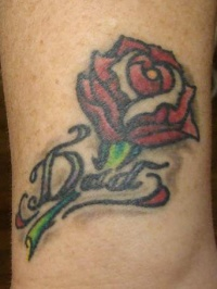 small rose tattoo design